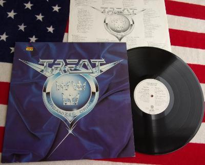 💥 LP: TREAT - ORGANIZED CRIME, jako nové Mint! 1.press Germany 1989