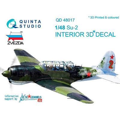 QUINTA STUDIO QD48017 3D Obtisky letadla Su-2 interiér /1:48
