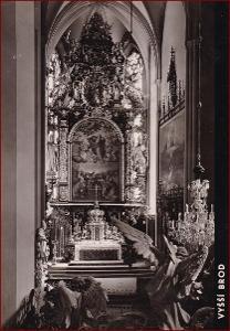 Vyšší Brod * klášter, kostel, oltář * Český Krumlov (Šumava) * V345