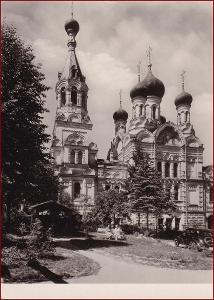 Karlovy Vary * pravoslavný kostel, auto, doprava, část města * V481