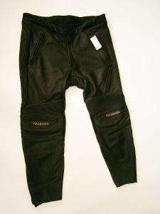 Kožené kalhoty zkrácené- vel. 25, pas: 90 cm
