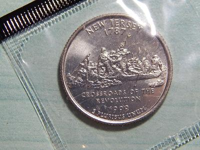 USA 1/4 Dollar 1999 D New Jersey UNC RL č33635