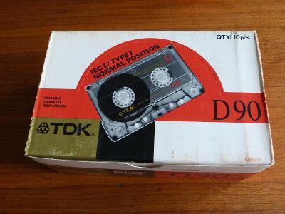 kazeta 10 x TDK D 90 , typ I, 1988-89