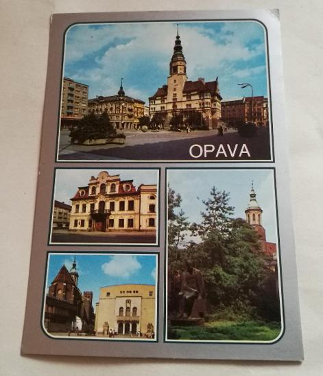 Pohled  Opava - Pohlednice