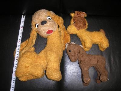 Staré retro plyšové hračky zvířátka 3 ks