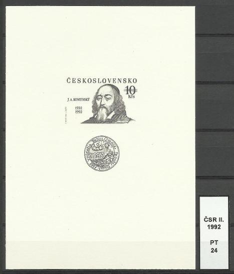 ČSR II. 1992, PT 24 - Filatelie