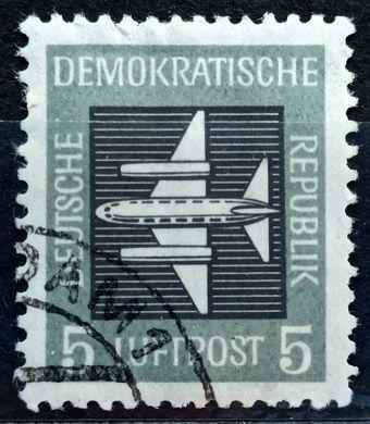 DDR: MiNr.609 Stylized Plane 5pf, Airpost 1957