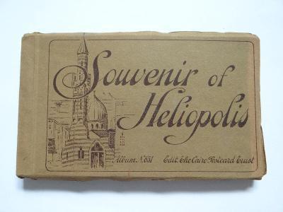 HELIOPOLIS - EGYPT, leporelo cca 1910=24x pohlednice, mf, viz foto.