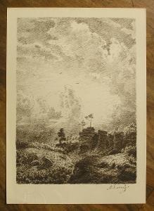 Švabinský - Orig. litografie - (D 1024 A)