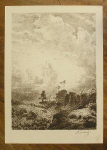 Švabinský - Orig. litografie - (D 1024 B)