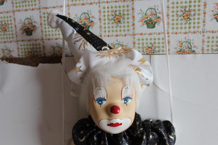 Loutka klauna - Starožitnosti