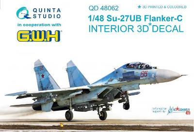 QUINTA STUDIO QD48062 3D Obtisky letadla Su-27UB Flanker-C inter/1:48