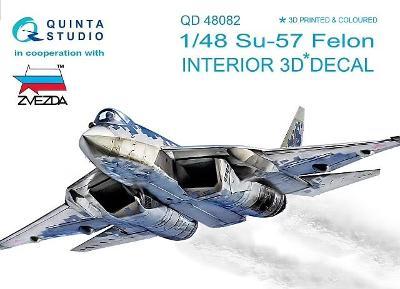 QUINTA STUDIO QD48082 3D Obtisky letadla Su-57 Felon interier / 1:48