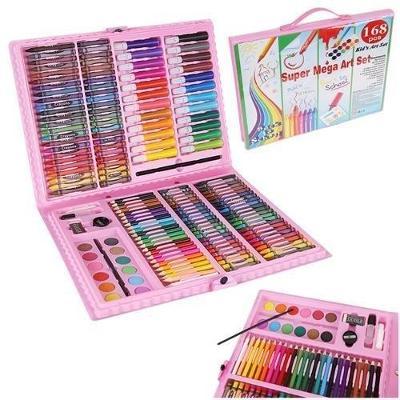 Výtvarná sada Mega Art Set 168 ks růžová + dárek