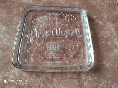 Pilsner Urquell skleněný tácek / Olympijské hry Canada 2010 / Raška