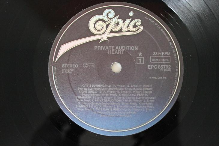 Heart – Private Audition LP 1982 vinyl NL 1.press super stav NM - Hudba