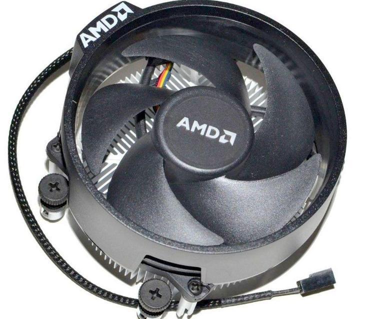 Originál AMD Socket AM4 Wrait Steath Ryzen  chladič s 4pin větrákem!  - PC komponenty