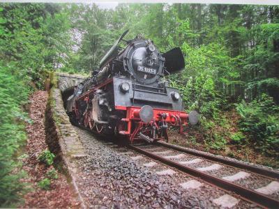 Parní lokomotiva 35 1097 - 1 tunel