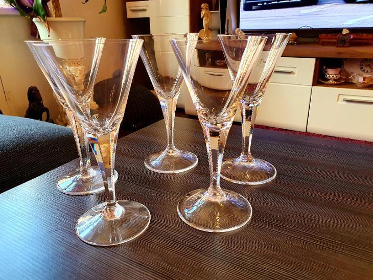 Moser,,,5x krásné sklenky Maharani na víno!!!sleva!!! - Starožitnosti