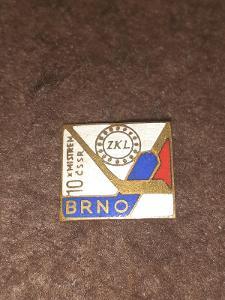 Odznak ZKL BRNO - 10 x mistrem ČSSR  - lední hokej