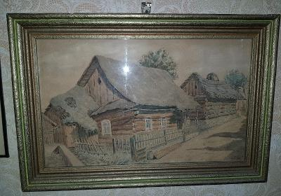 Dřevěnice, signovano Kubíček 1951