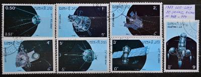 =Letecké-LAO-LAOS, 1982. Vesmír, Mi# 988-994 kompletní série/ FZ-159