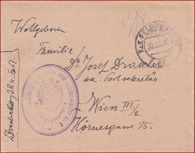Feldpost nr. 57 * polní pošta, razítko, regiment, obálka F44