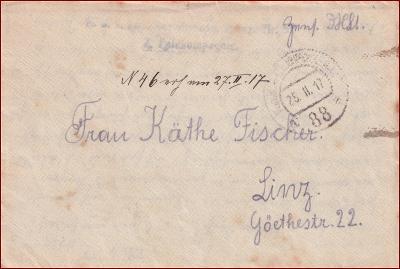 Feldpost nr. 88 * polní pošta, razítko, regiment, obálka F46