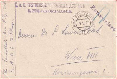 Feldpost nr. 218 * polní pošta, razítko, regiment, obálka F51