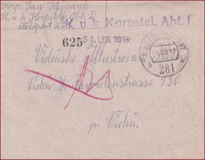 Feldpost nr. 281 * polní pošta, razítko, regiment, obálka F55