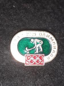 Odznak LOH MOSKVA 1980 - POZEMNÍ HOKEJ