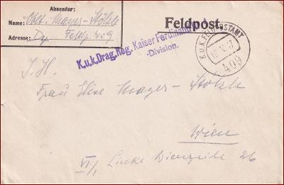 Feldpost nr. 409 * polní pošta, razítko, regiment, obálka F59