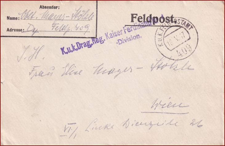 Feldpost nr. 409 * polní pošta, razítko, regiment, obálka F59 - Filatelie