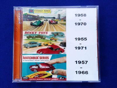 35x Staré katalogy MATCHBOX 1957- , CORGI 1958- , DINKY 1955- ,926 str