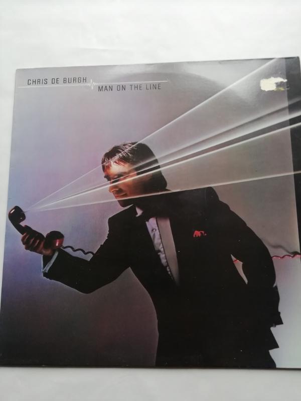 LP CHRIS DE BURGH - MAN ON THE LINE  - Hudba
