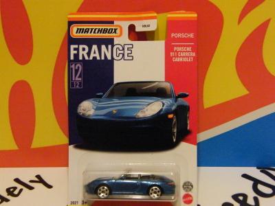 6/2021 FRANCE series PORSCHE 911 CARRERA CABRIOLET - MATCHBOX