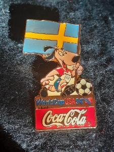 Odznak MS ve fotbale USA 1994 tým ŠVÉDSKO