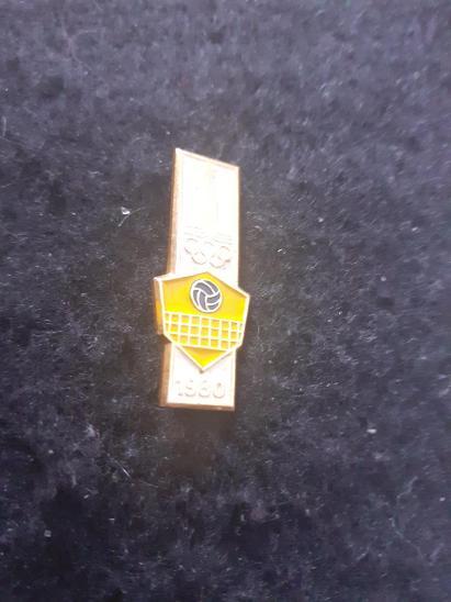 Odznak LOH MOSKVA 1980 - VOLEJBAL  - Faleristika