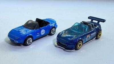 2 kusy Mazda MX-5 Miata autíčka Hot Wheels 1:64