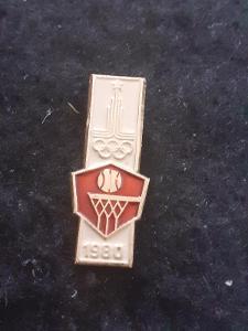 Odznak LOH MOSKVA 1980 - BASKETBAL