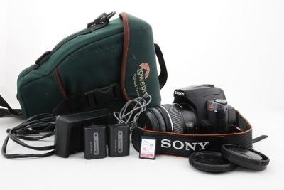 Zrcadlovka Sony a380 + 18-55mm + brašna