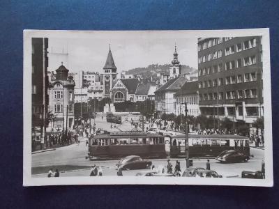 Slovensko Bratislava Stalinovo náměstí tramvaj
