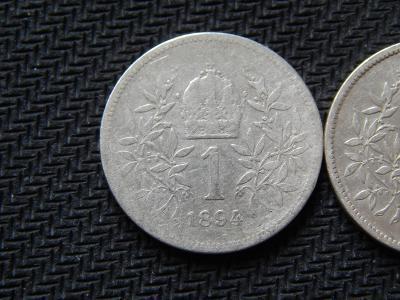 1 koruna 1893 bz , 1894 KB ,1894 bz / stříbro 0,835