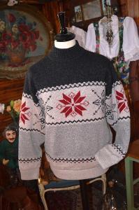 Krásný pánský teplý svetr s vlnou vel. M