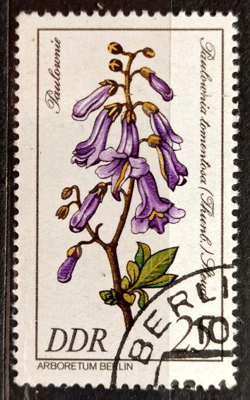 DDR: MiNr.2576 Paulownia Tomentose 25pf, Rare Wood Issue 1981
