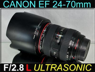 💥 Canon EF 24-70mm f/2.8 L USM **Prof. Zoom,1:2.8, řady L** 👍TOP