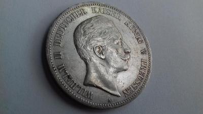 Stříbro Německo Prusko 5 Marka 1900 Wilhelm II.  r.l.