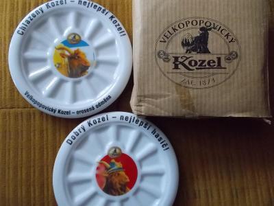 Pivovar Popovice Kozel porcelán tácek sada origo  dekorativní perfekt
