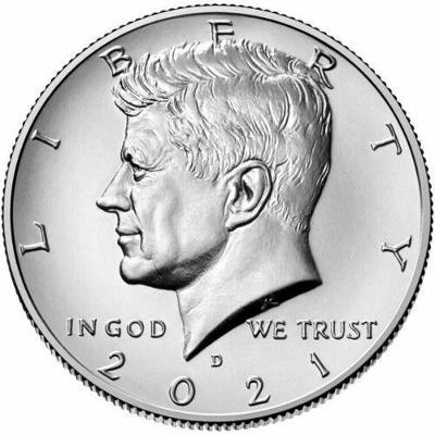 Nový Kennedyho Half Dollar 2021 D z bankovního pytle