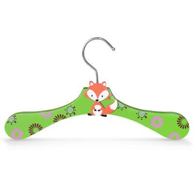 Dřevěné ramínko pro děti na oděvy s motivem liška (30338)
